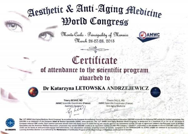 aesthetic and anti-aging medicine world congress 2015