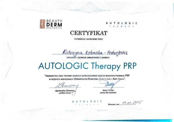 autologic therapy prp 2015