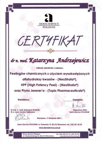 certyfikat derm-service pologne