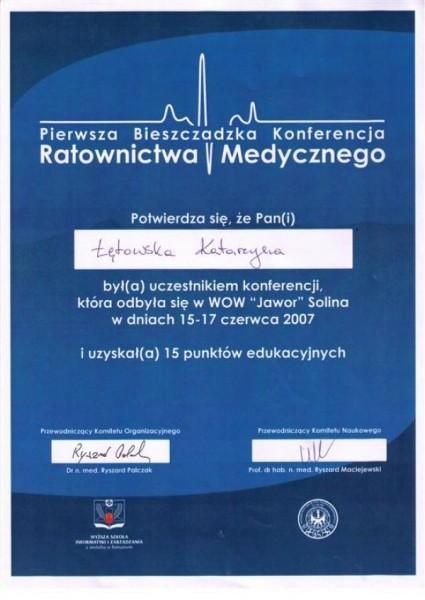 certyfikat Katarzyna Łętowska