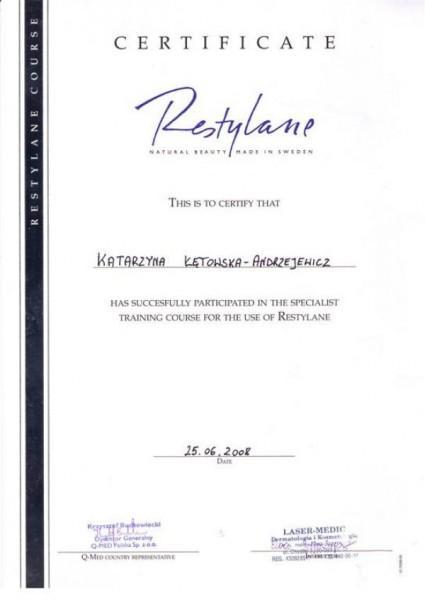medycyna estetyczna estetica certyfikat