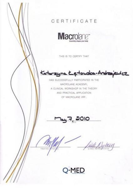 certyfikat marcolane