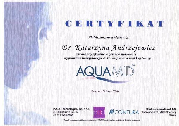 AquaMid certyfikat